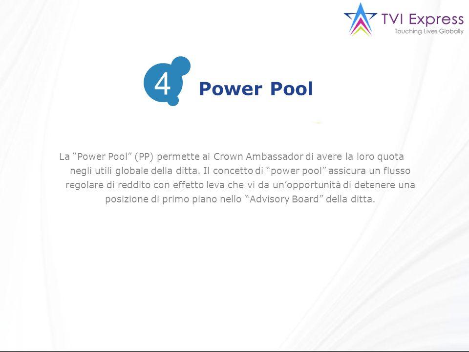 La Power Pool (PP) permette ai Crown Ambassador di avere la loro quota negli utili globale della ditta.