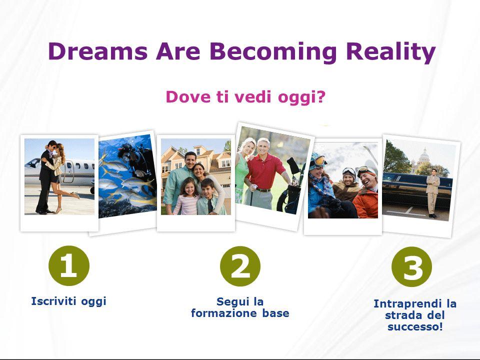Dreams Are Becoming Reality Dove ti vedi oggi.