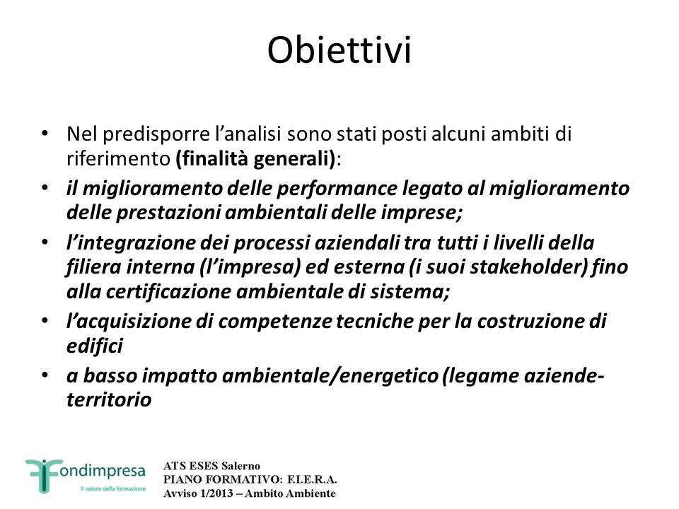 Obiettivi Nel predisporre lanalisi sono stati posti alcuni ambiti di riferimento (finalità generali): il miglioramento delle performance legato al mig