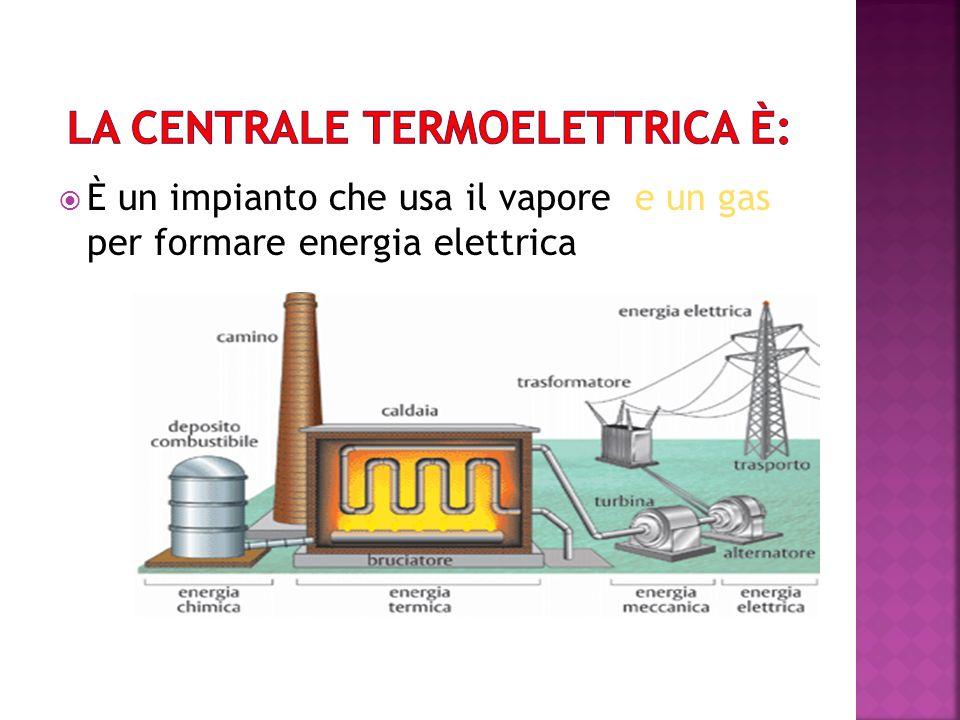 È un impianto che usa il vapore e un gas per formare energia elettrica