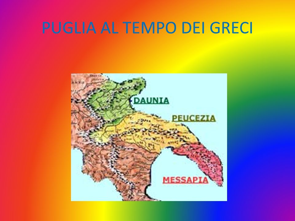 DAUNI La Daunia (in greco Δαυνία) è una subregione geografico-culturale della Puglia, nota anche col nome di Capitanata.