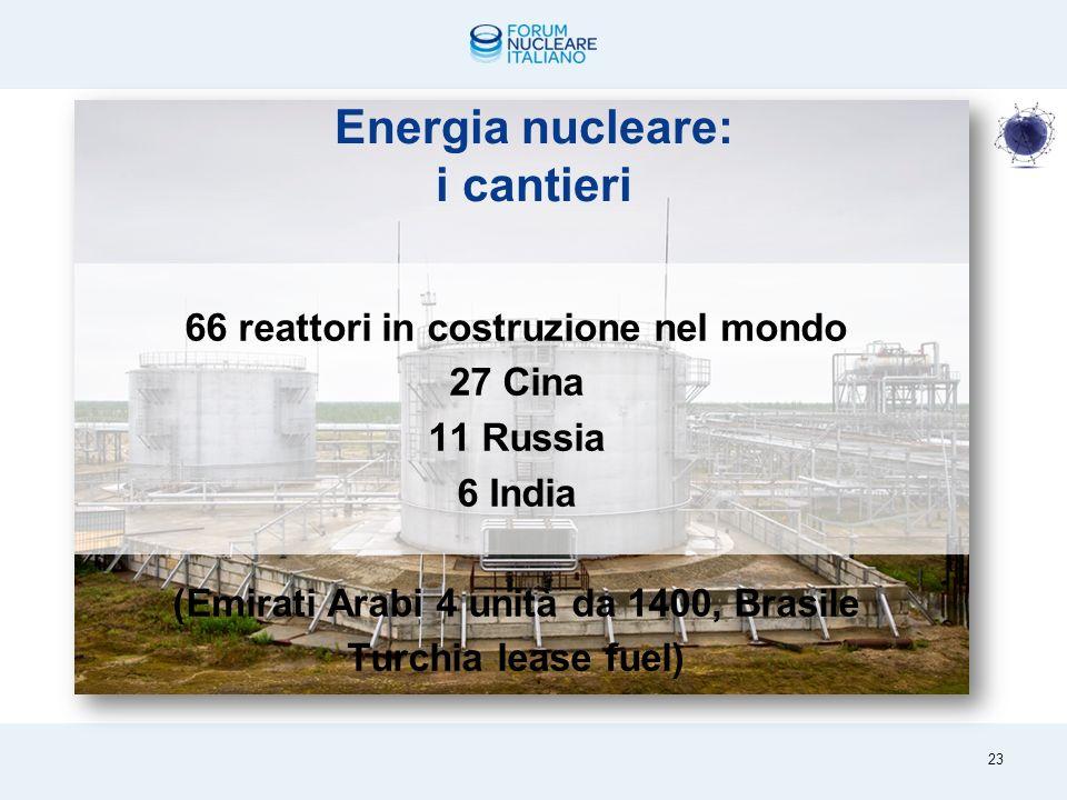 Lenergia nucleare nel mondo e nella UE Nel mondo 443 reattori in 30 diversi Paesi.