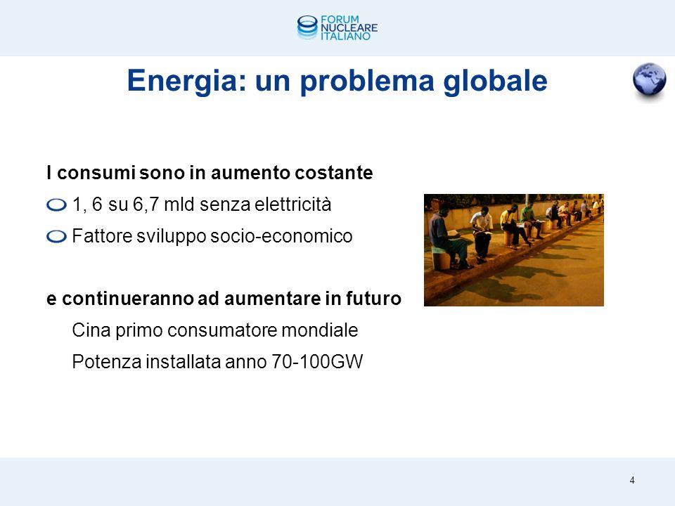Elettricità in costante crescita 3 + 50,2% 1997 2010 20.870 TWh 13.867 TWh 20.870 miliardi di kilowattora nel 2010 (338 dei quali in Italia)