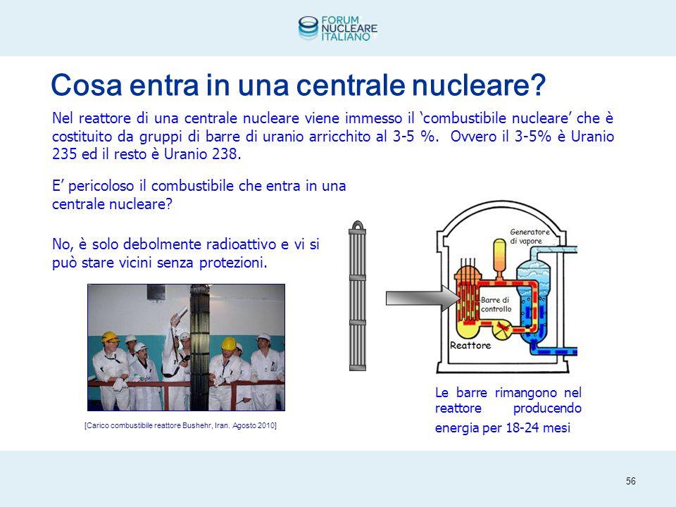 55 [Fonte U.S. Nuclear Regolatory Commission] Come funziona una centrale nucleare.