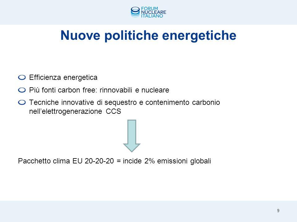 Lequazione da risolvere 8 Crescono i consumi di energia Si aggrava il riscaldamento globale Si esauriscono risorse