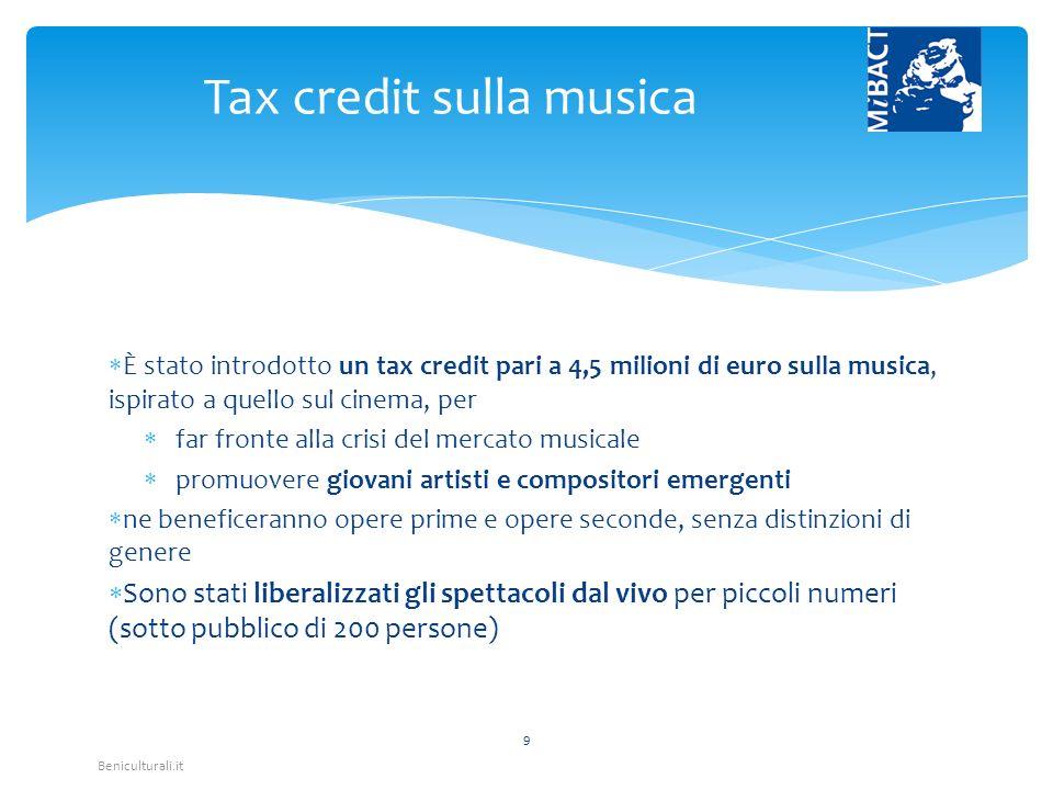 Beniculturali.it La norma serve a risanare la situazione debitoria delle fondazioni lirico-sinfoniche.