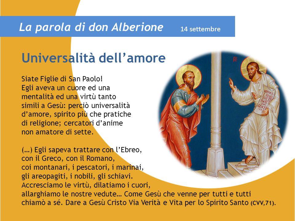 La parola di don Alberione 14 settembre Siate Figlie di San Paolo.