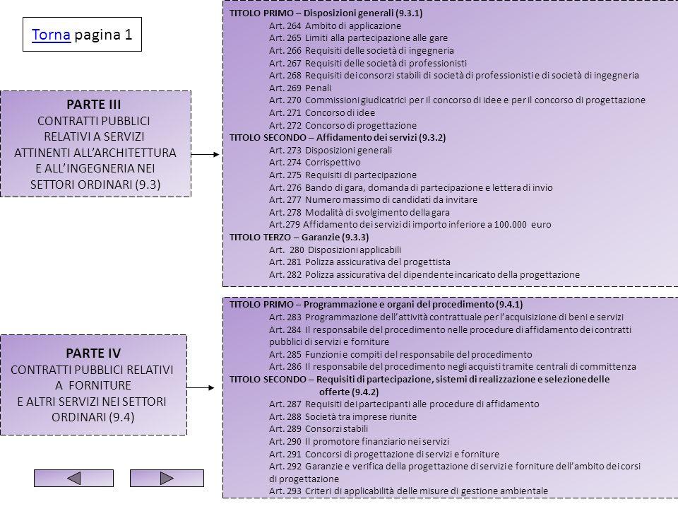 PARTE III CONTRATTI PUBBLICI RELATIVI A SERVIZI ATTINENTI ALLARCHITETTURA E ALLINGEGNERIA NEI SETTORI ORDINARI (9.3) TITOLO PRIMO – Disposizioni gener