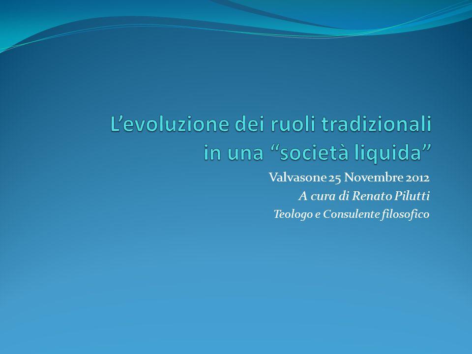 Valvasone 25 Novembre 2012 A cura di Renato Pilutti Teologo e Consulente filosofico