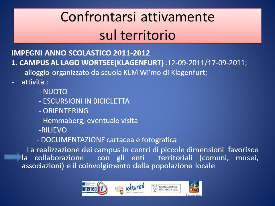 IMPEGNI ANNO SCOLASTICO 2011-2012 1.