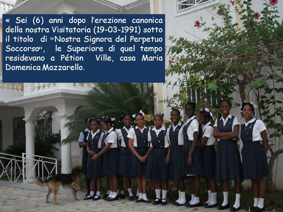 Nel frattempo, la Congragazione in Haiti avava fatto cammino.
