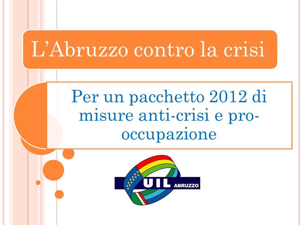 LAbruzzo contro la crisi Per un pacchetto 2012 di misure anti-crisi e pro- occupazione