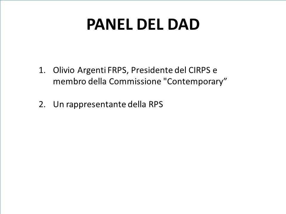 1.Olivio Argenti FRPS, Presidente del CIRPS e membro della Commissione