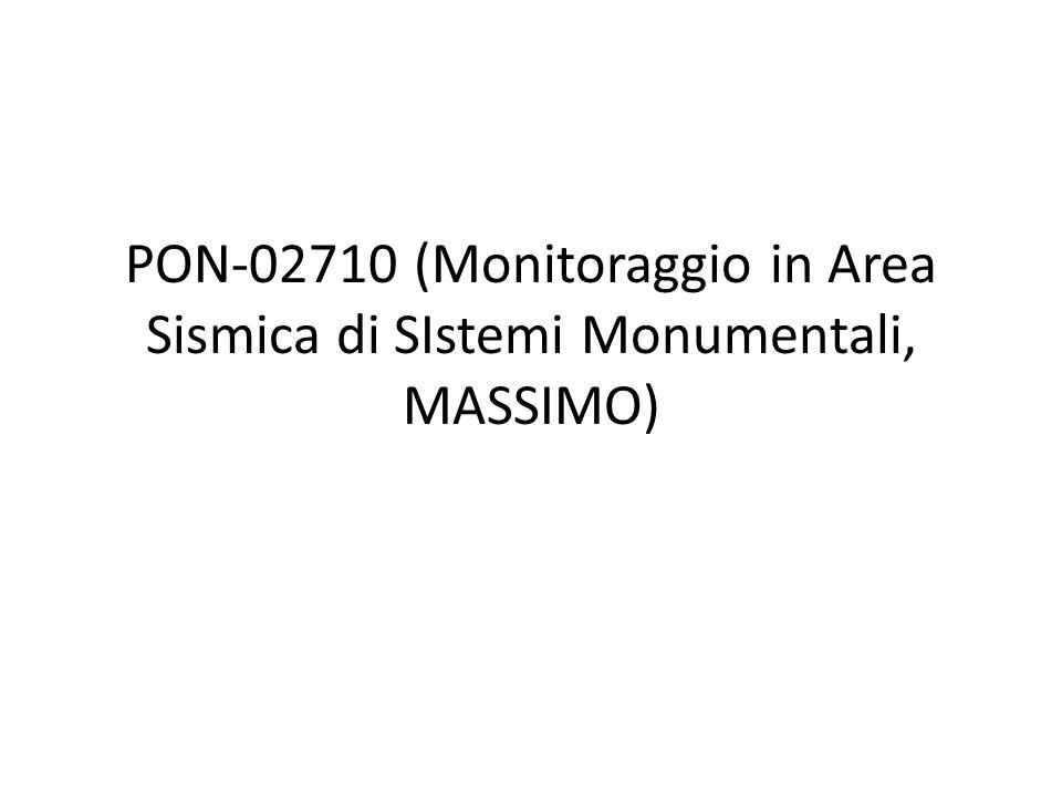 PON-02710 (Monitoraggio in Area Sismica di SIstemi Monumentali, MASSIMO)