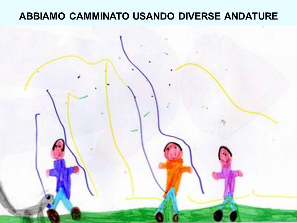 ABBIAMO CAMMINATO USANDO DIVERSE ANDATURE