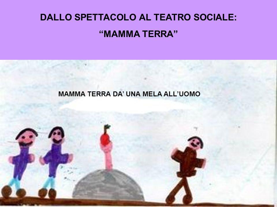 DALLO SPETTACOLO AL TEATRO SOCIALE: MAMMA TERRA MAMMA TERRA DA UNA MELA ALLUOMO