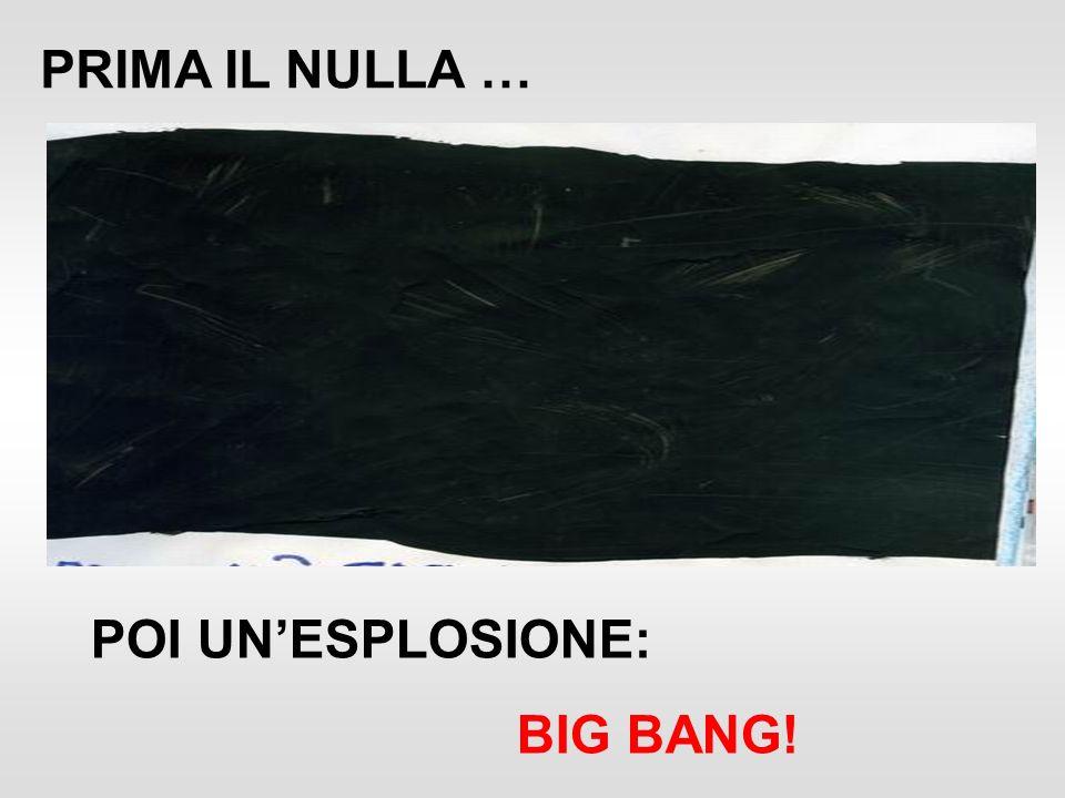 PRIMA IL NULLA … POI UNESPLOSIONE: BIG BANG!
