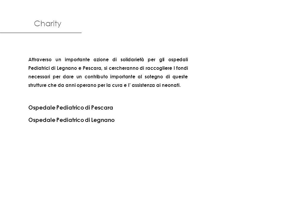 Attraverso un importante azione di solidarietà per gli ospedali Pediatrici di Legnano e Pescara, si cercheranno di raccogliere I fondi necessari per d