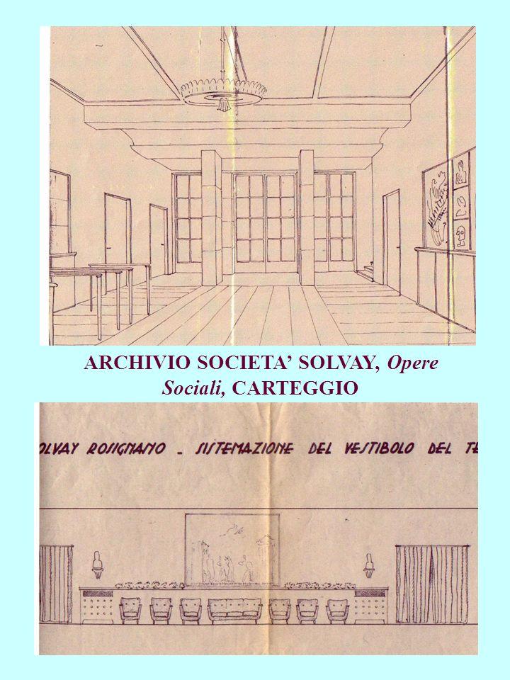 ARCHIVIO SOCIETA SOLVAY, Opere Sociali, CARTEGGIO