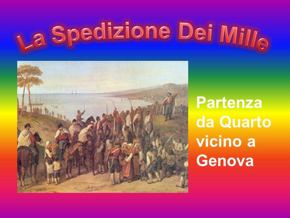 Partenza da Quarto vicino a Genova