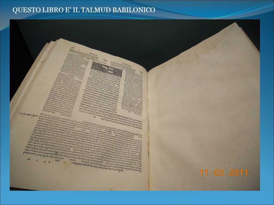 QUESTO LIBRO E IL TALMUD BABILONICO