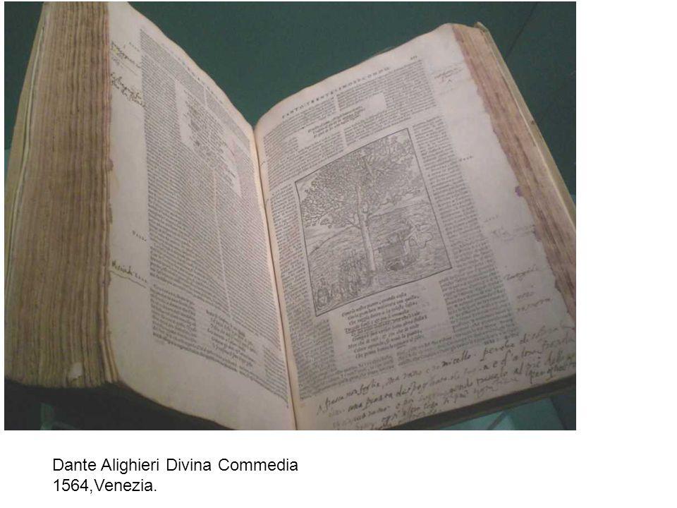 Dante Alighieri Divina Commedia 1564,Venezia.