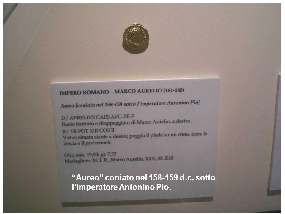 Aureo coniato nel 158-159 d.c. sotto limperatore Antonino Pio.