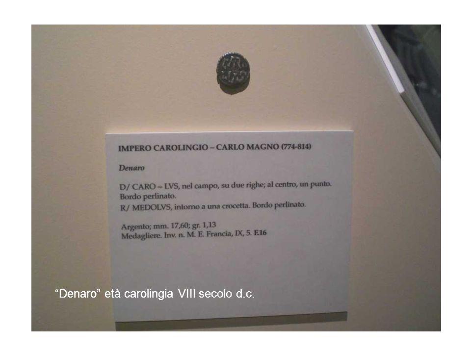 Denaro età carolingia VIII secolo d.c.