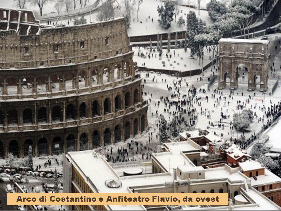 Arco di Costantino e Anfiteatro Flavio, da ovest