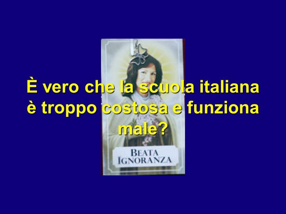 È vero che la scuola italiana è troppo costosa e funziona male