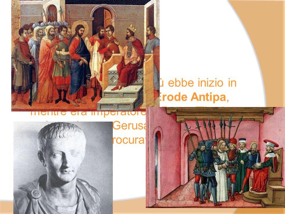 Lattività pubblica di Gesù ebbe inizio in Galilea sotto il regno di Erode Antipa, mentre era imperatore a Roma Tiberio, e si concluse a Gerusalemme al