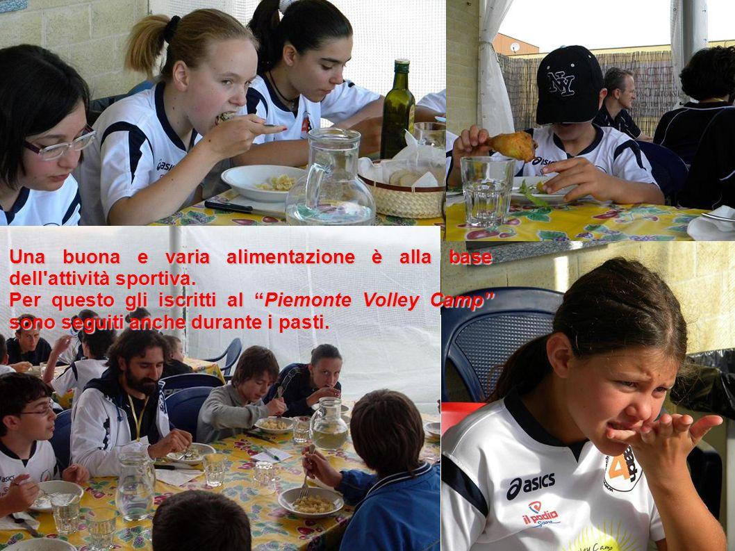 Una buona e varia alimentazione è alla base dell attività sportiva.