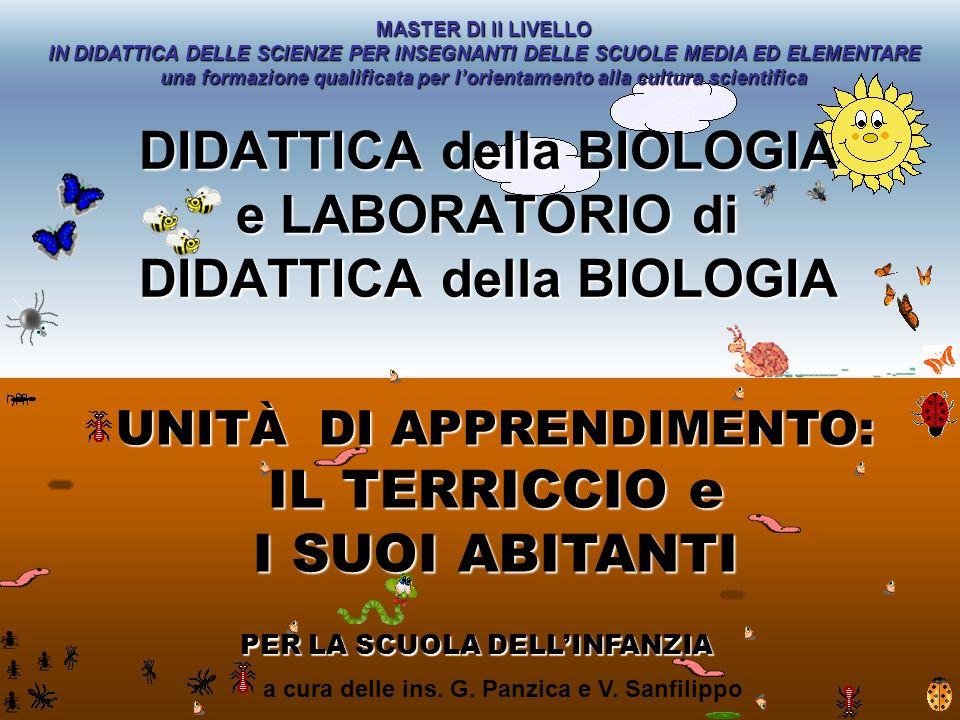 a cura delle ins. G. Panzica e V. Sanfilippo DIDATTICA della BIOLOGIA e LABORATORIO di DIDATTICA della BIOLOGIA UNITÀ DI APPRENDIMENTO: IL TERRICCIO e