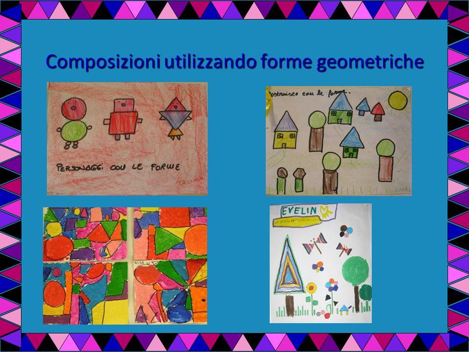 Utilizzando le forme geometriche i bambini compongono un disegno.
