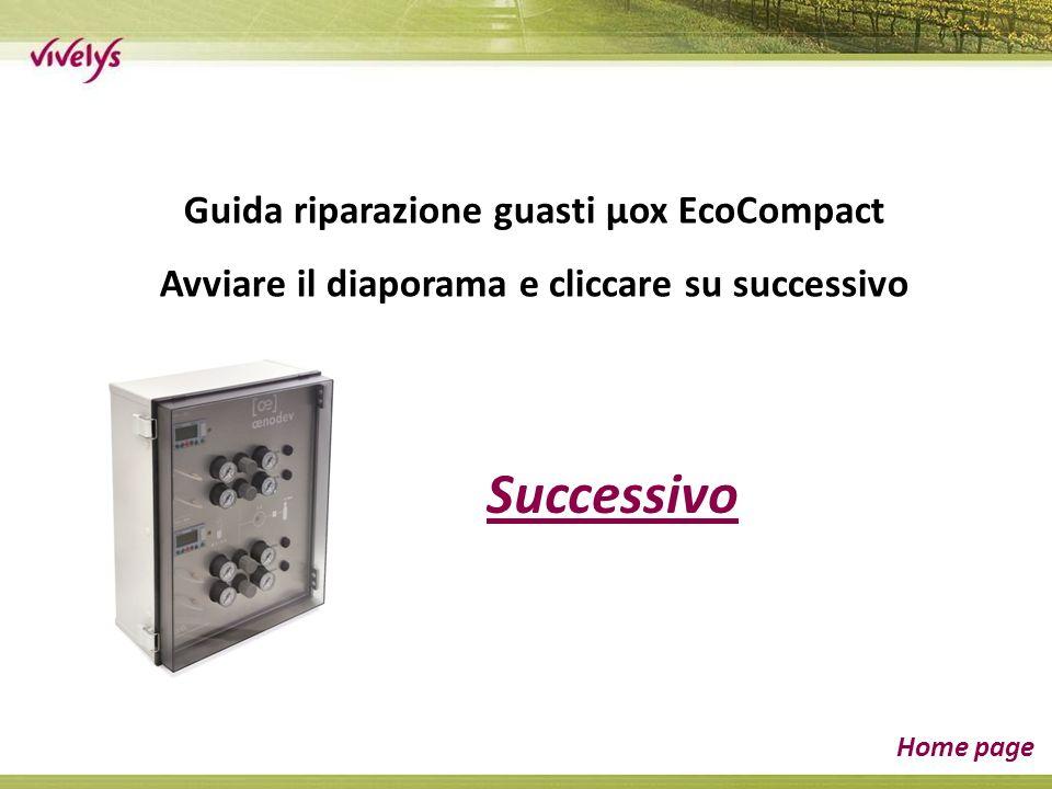 Successivo Home page Guida riparazione guasti µox EcoCompact Avviare il diaporama e cliccare su successivo