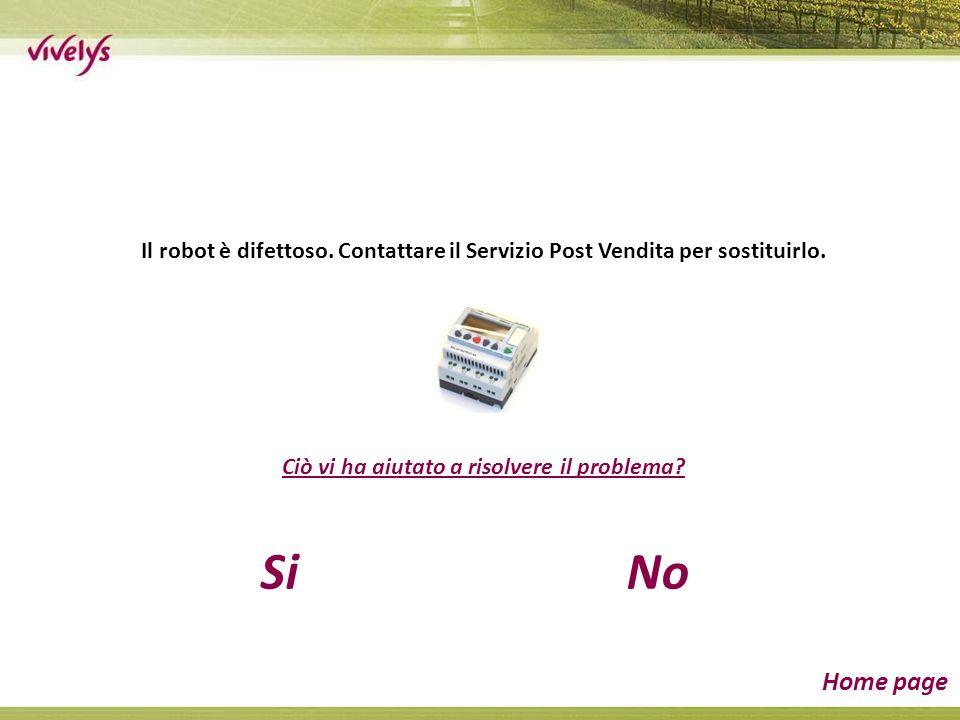 Il robot è difettoso. Contattare il Servizio Post Vendita per sostituirlo. Ciò vi ha aiutato a risolvere il problema? SiNo Home page