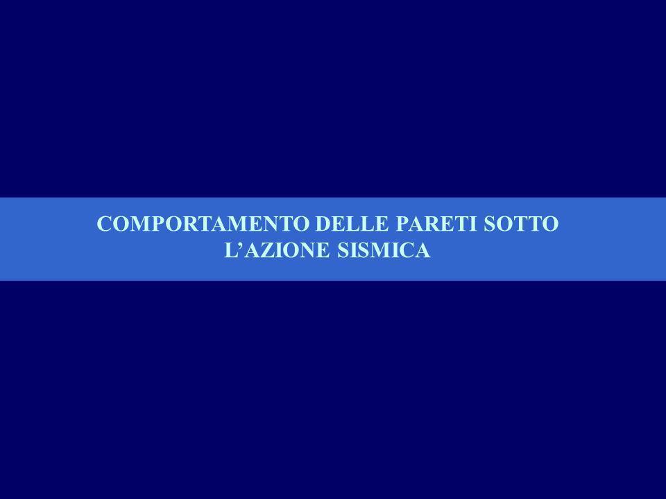COMPORTAMENTO DELLE PARETI SOTTO LAZIONE SISMICA