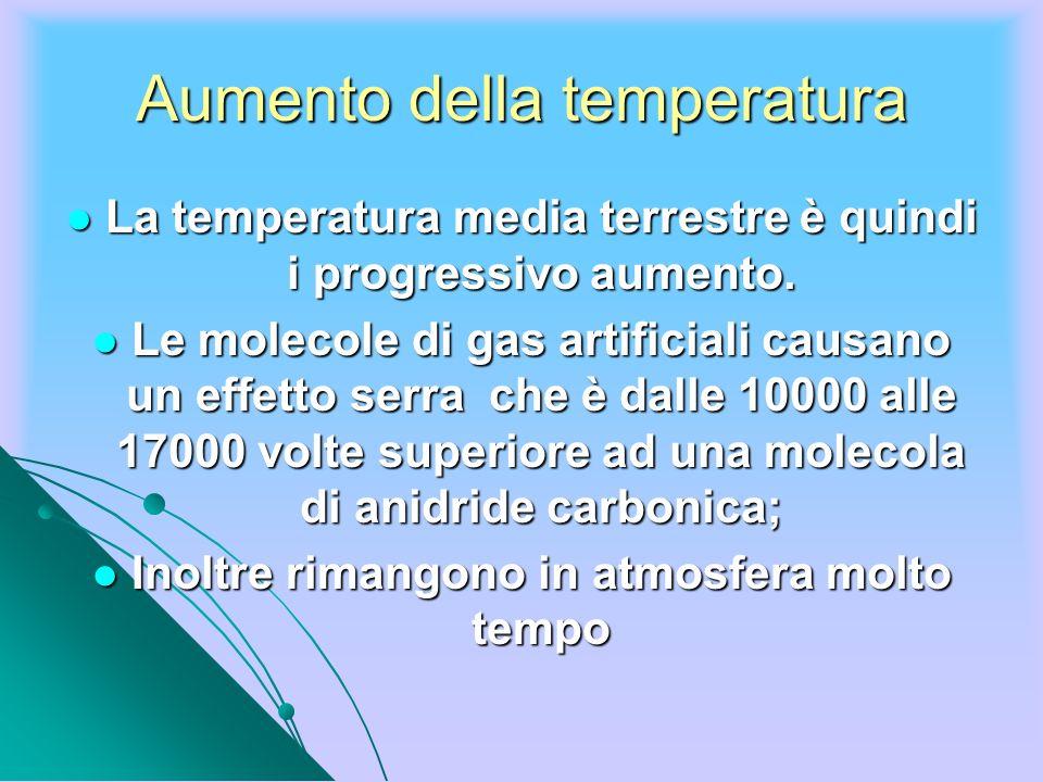 Aumento della temperatura La temperatura media terrestre è quindi i progressivo aumento. La temperatura media terrestre è quindi i progressivo aumento