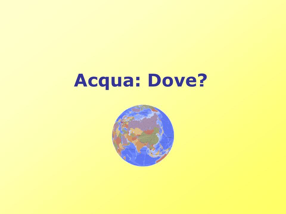 Acqua: Dove?
