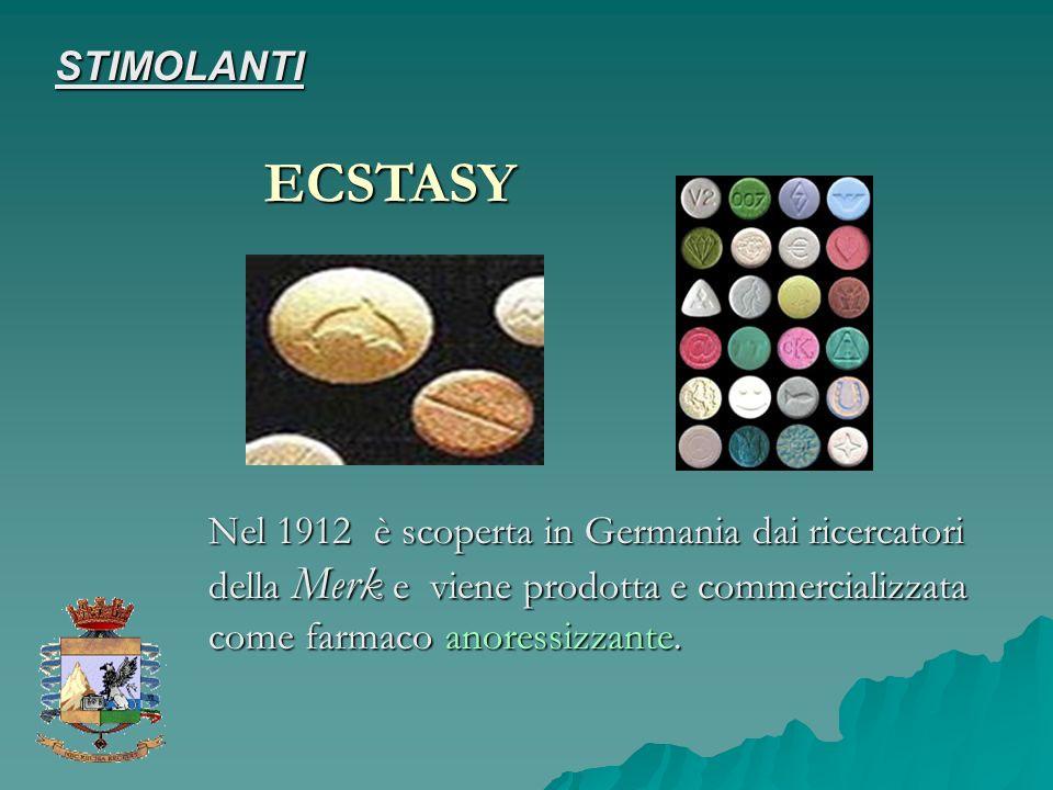Nel 1912 è scoperta in Germania dai ricercatori della Merk e viene prodotta e commercializzata come farmaco anoressizzante. ECSTASY STIMOLANTI