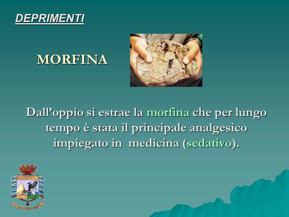 Dalloppio si estrae la morfina che per lungo tempo è stata il principale analgesico impiegato in medicina (sedativo). MORFINA DEPRIMENTI