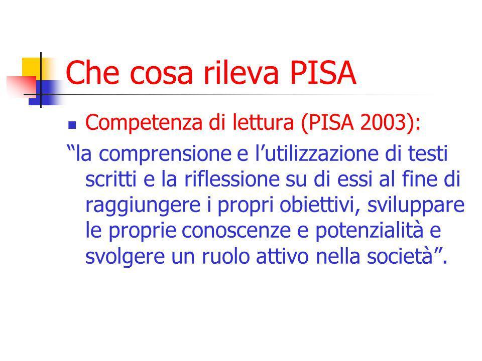 Approfondimenti Necessità di approfondire lanalisi dei dati PISA analisi multilivello approfondimenti di tipo qualitativo