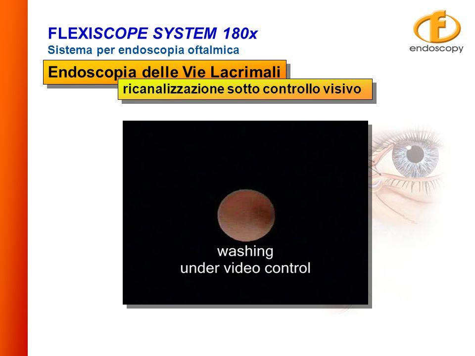 FLEXISCOPE SYSTEM 180x Sistema per endoscopia oftalmica Endoscopia delle Vie Lacrimali ricanalizzazione sotto controllo visivo