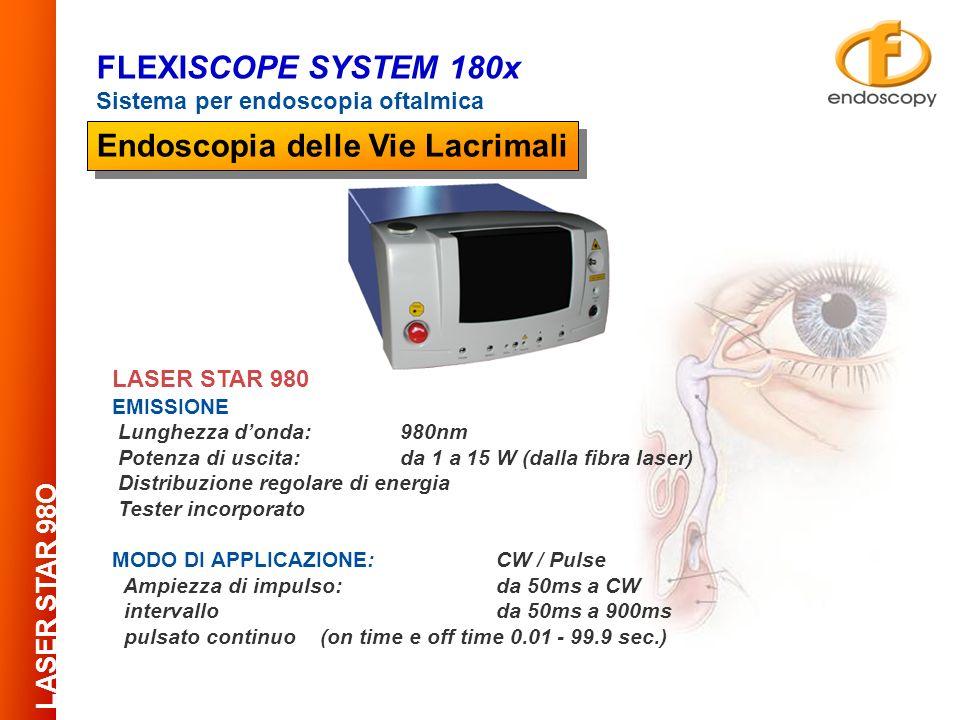 LASER STAR 980 EMISSIONE Lunghezza donda:980nm Potenza di uscita: da 1 a 15 W (dalla fibra laser) Distribuzione regolare di energia Tester incorporato