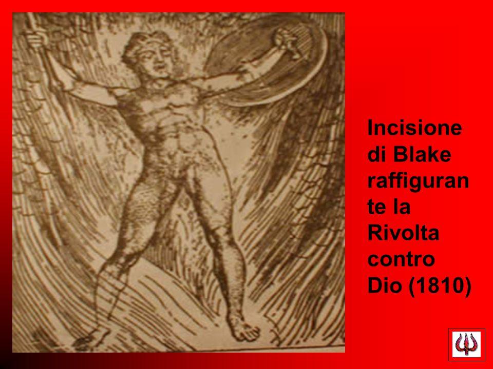 Incisione di Blake raffiguran te la Rivolta contro Dio (1810)