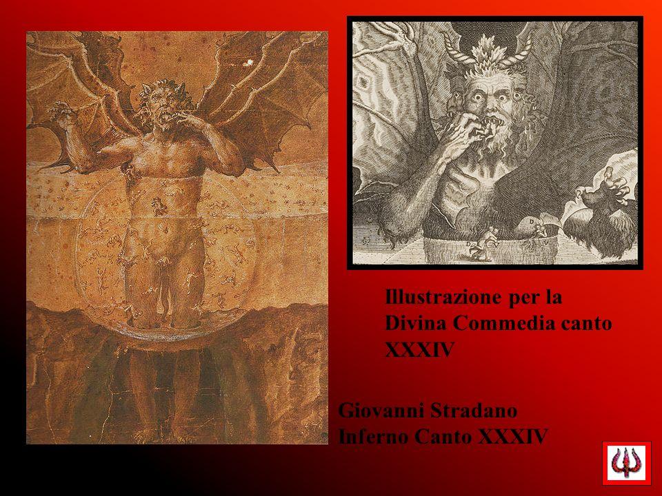 Giovanni Stradano Inferno Canto XXXIV Illustrazione per la Divina Commedia canto XXXIV