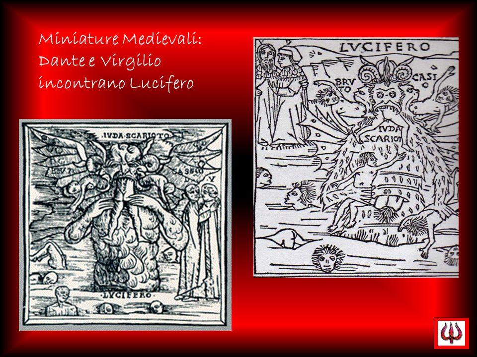 Miniature Medievali: Dante e Virgilio incontrano Lucifero