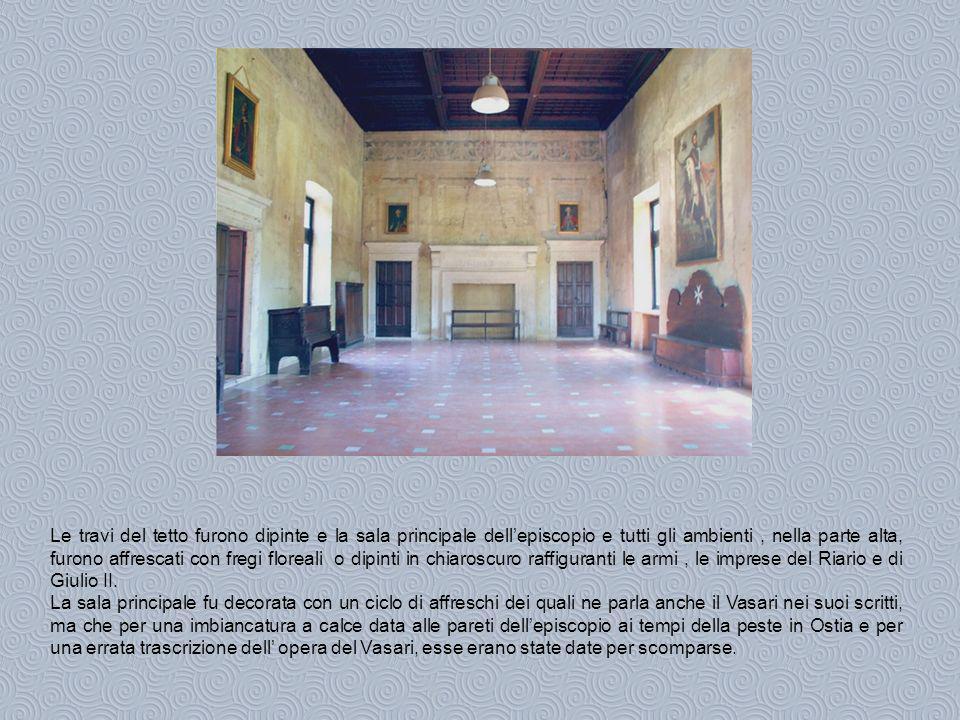 Solo alcuni decenni una fortunata e casuale scoperta, dovuta a padre Geremia Sangiorgi, parroco di S.Aurea, ha permesso di conoscere il vasto ciclo di pitture murali che decorano il salone Riario.