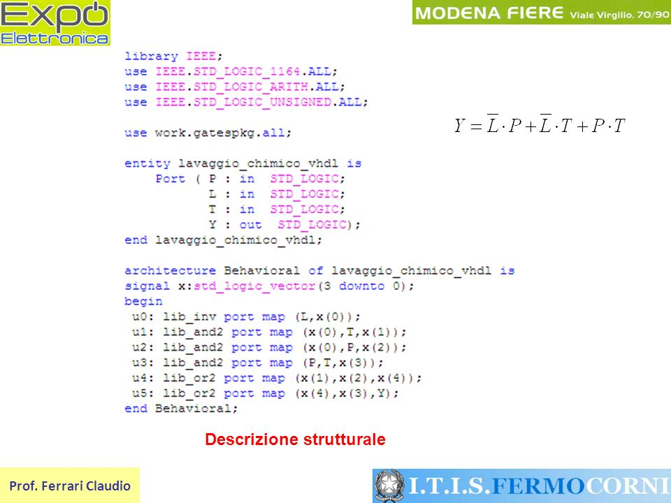 Prof. Ferrari Claudio Descrizione strutturale