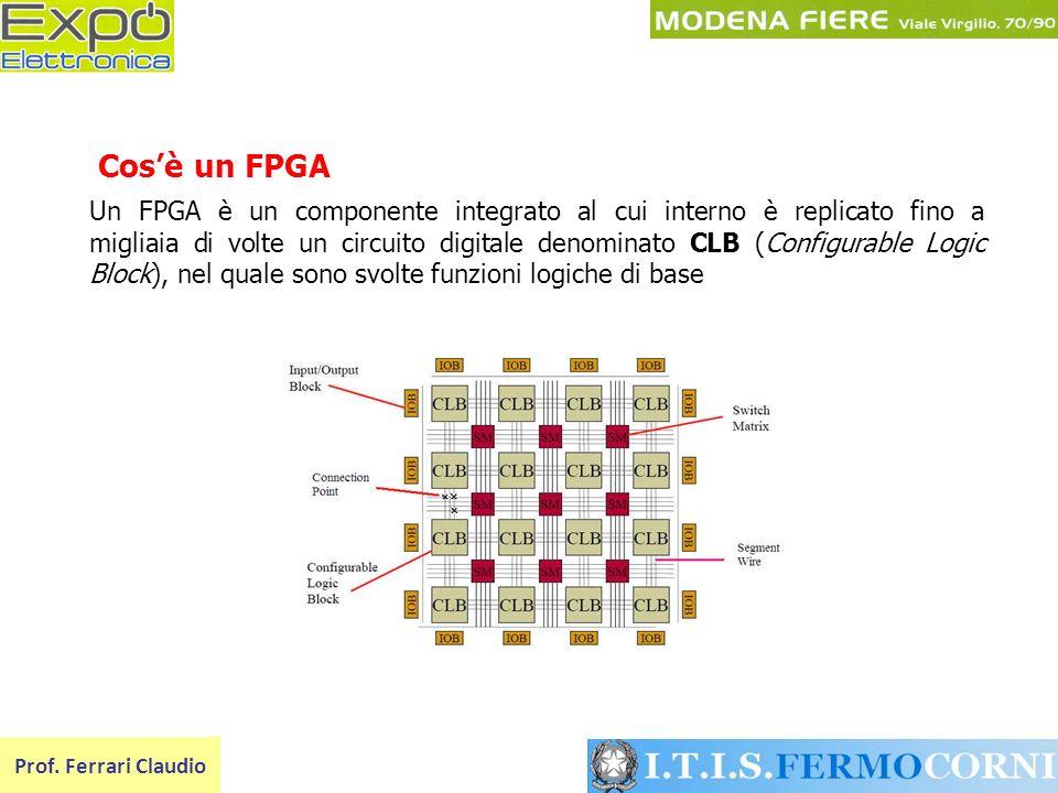 Un FPGA è un componente integrato al cui interno è replicato fino a migliaia di volte un circuito digitale denominato CLB (Configurable Logic Block),